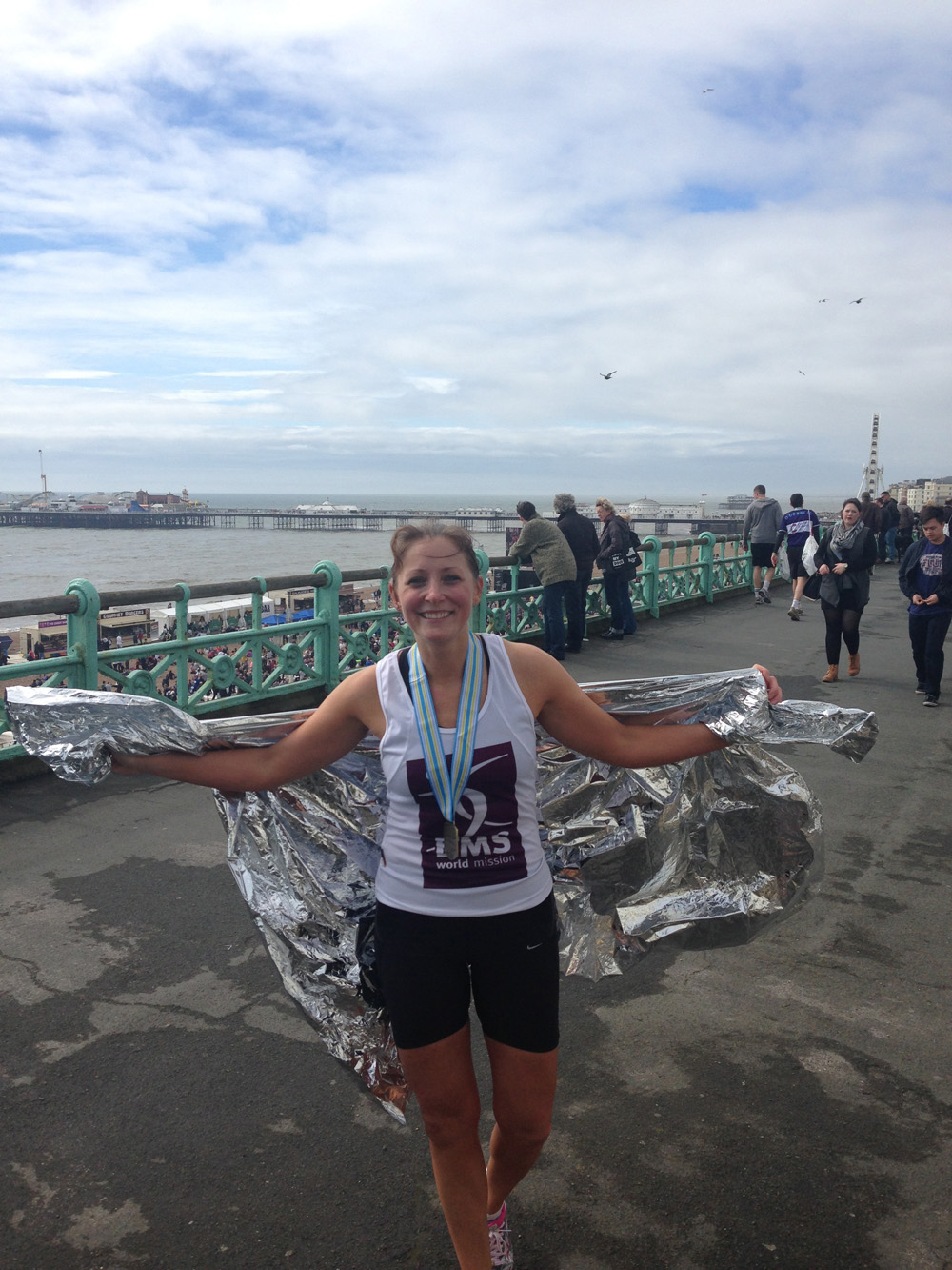 Louisa Wilson after the Brighton Marathon