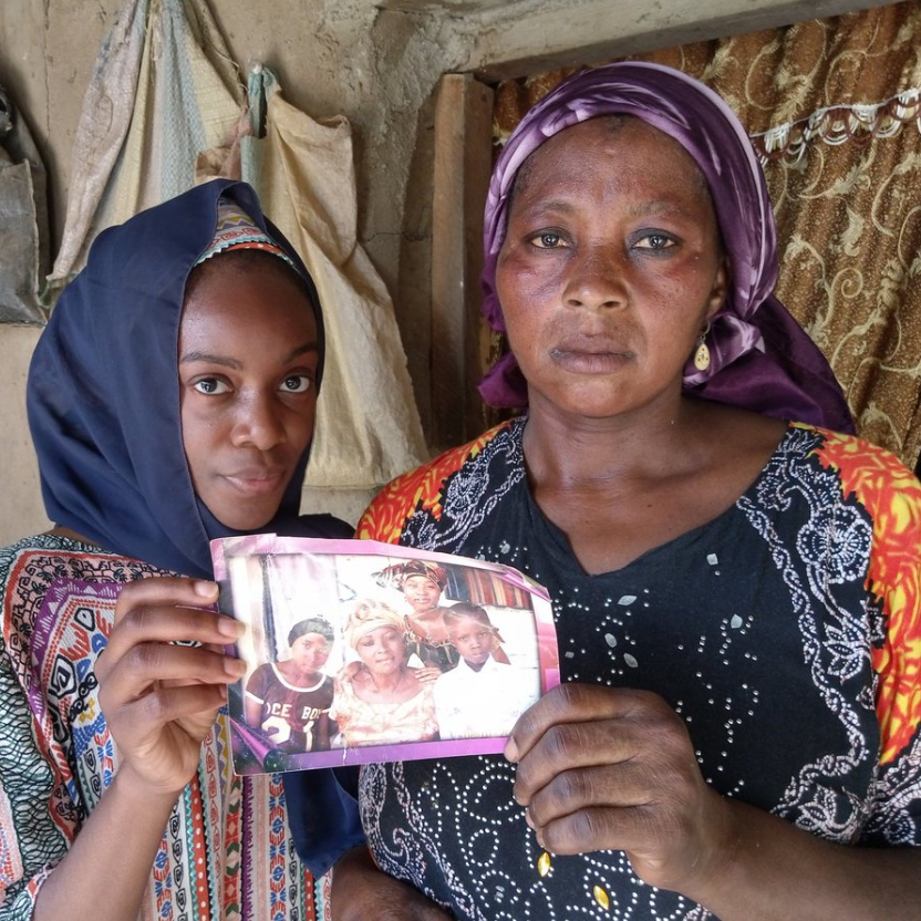 Leah's mother Rebecca Sharibu
