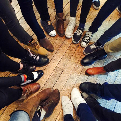 Diverse Church foot circle
