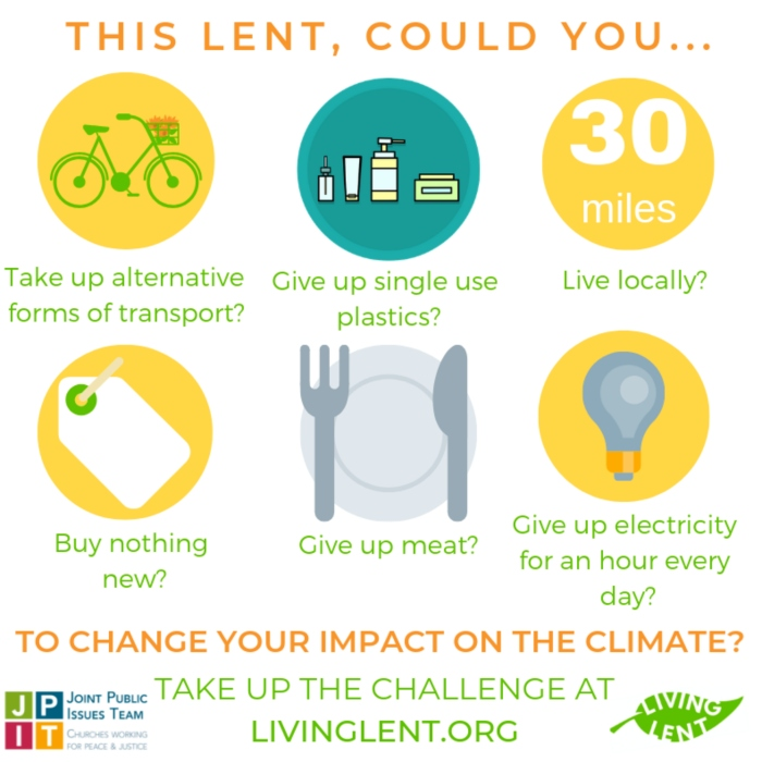 Living Lent six challenges