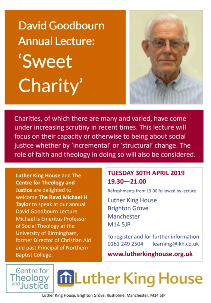 Sweet charity DG Lecture