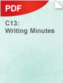 C13 Writing Minutes