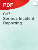 C17 Serious Incident Reporting