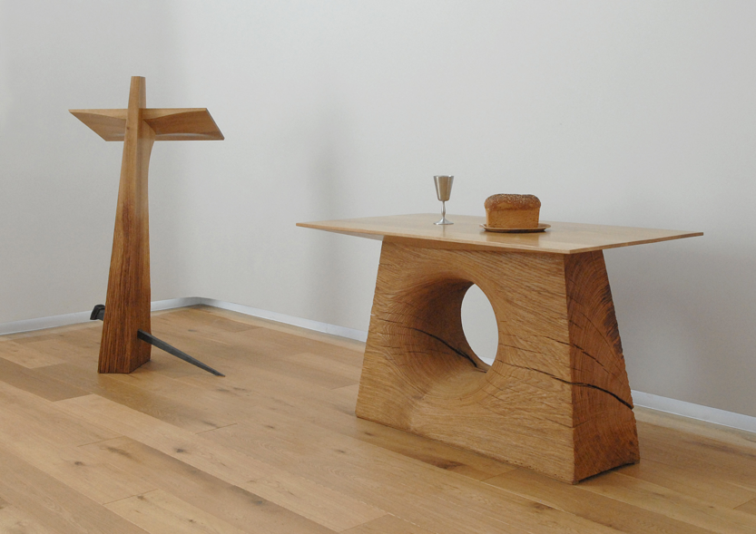 Cross and Communion Table